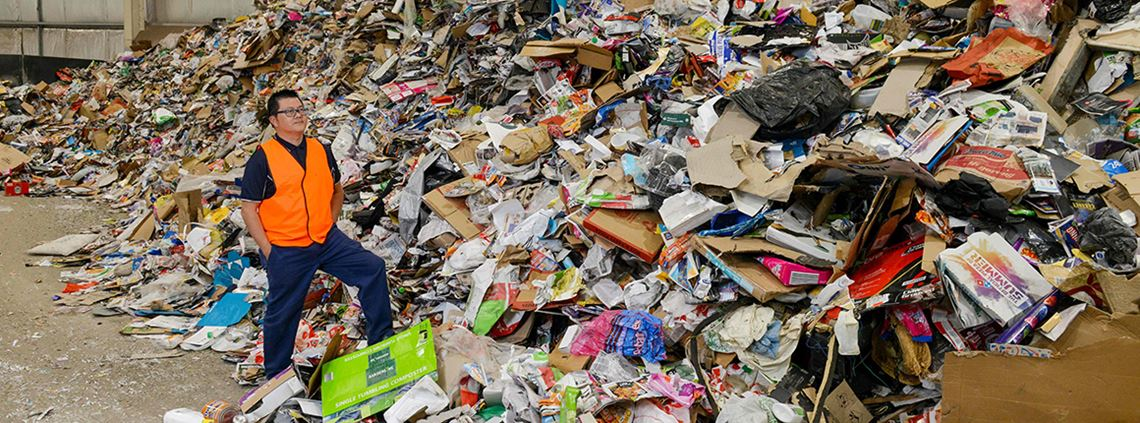 Last year, Australia spent $2.8bn on exporting 4.5m tonnes of waste to countries such as China, Indonesia and Vietnam © AFP/Getty Images