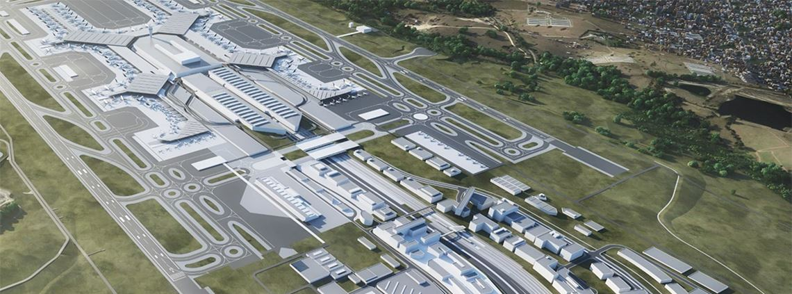 The $5.3bn airport is due to open in 2026