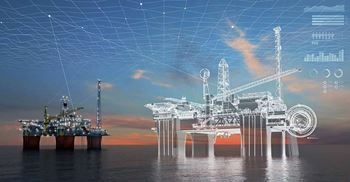 Energy players, such as offshore oil projects, are using digital twins to improve safety and reduce costs ©Aker Solutions