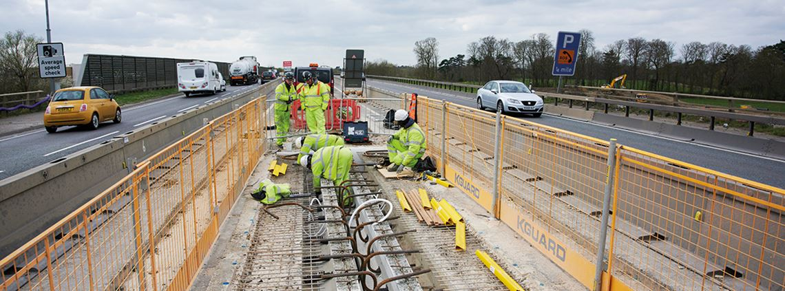 The A14 Integrated Delivery Team has been recognised for its successes in collaborative working ©James Walker/Highways England