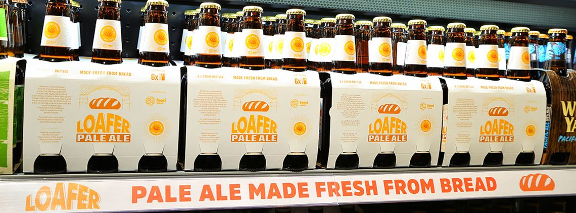 Over 350kg of bread has been diverted from landfills to create Loafer pale ale © Woolworths Group