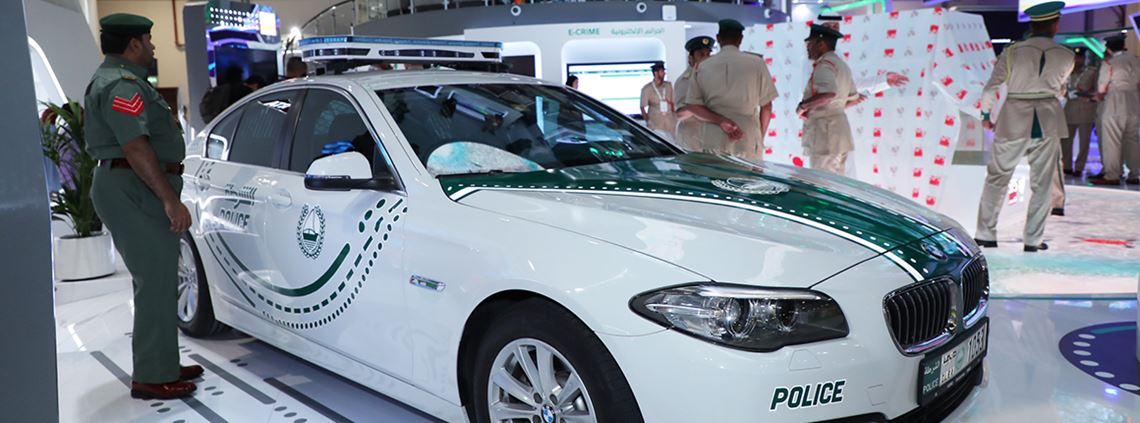 Dubai Police's 'Smart Patrol' car was launched at GITEX Technology Week © Dubai Police