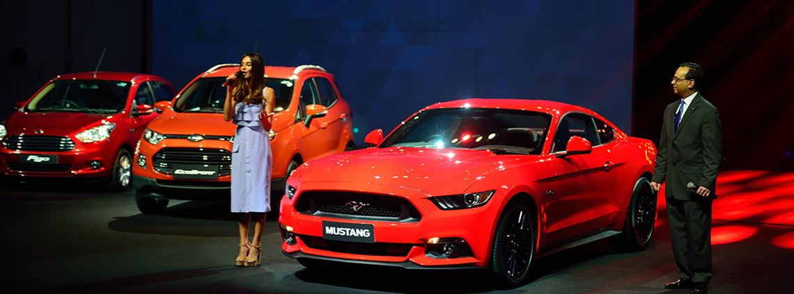Ford India will be launching three new utility vehicles under the JV. The Mustang was launched in India in 2016 © Pradeep Gaur/Mint via Getty Images