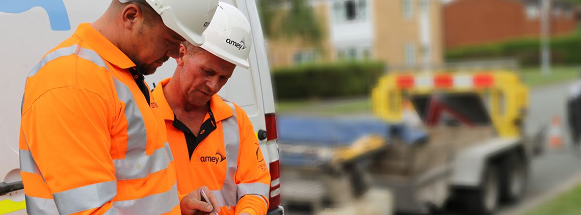 Amey provide services in construction including engineering, utilities, transport and infrastructure. © Amey