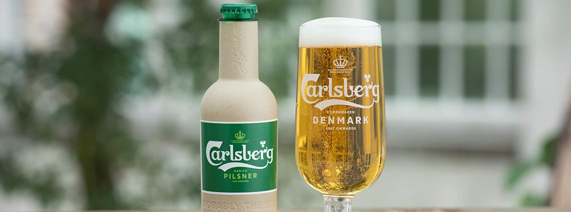 "Carlsberg's ""green fibre bottle"" is still in development. © Carlsberg"