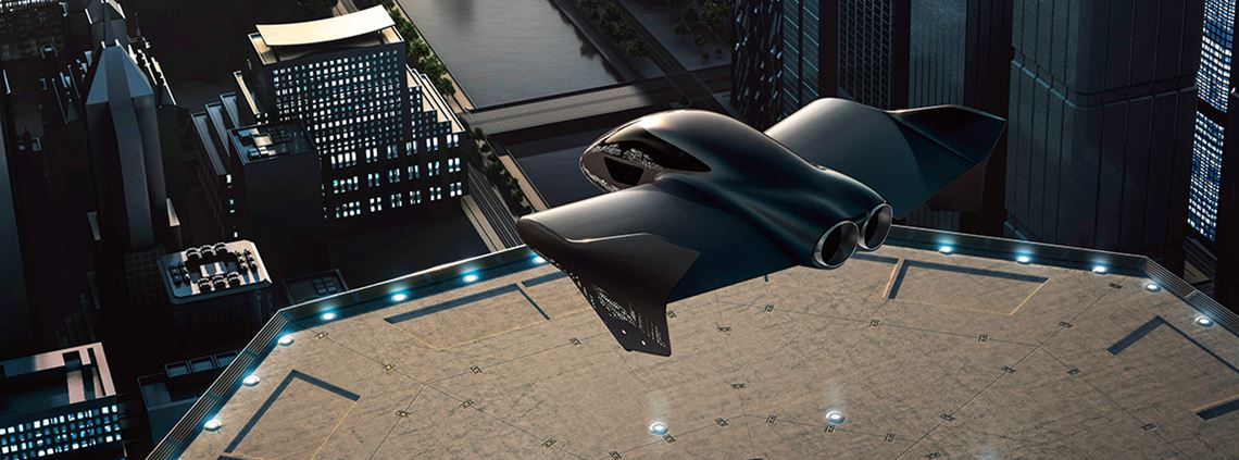 "Porsche says it could be ""moving into the third dimension of travel"" © Boeing Porsche"