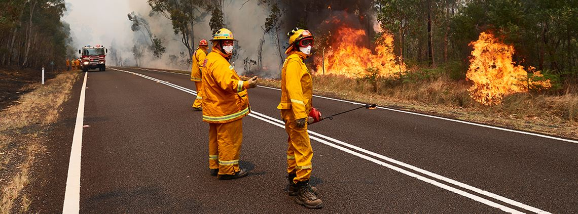 NSW declared State of Emergency as 1m hectares of land has been burned by bushfire. © Brett Hemmings/Getty Images