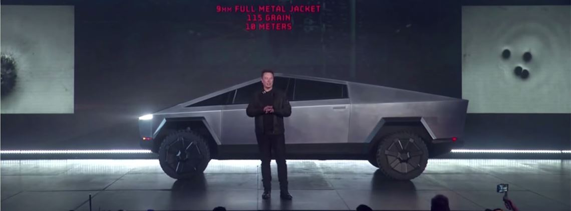 Electrification, as demonstrated by Elon Musk's Tesla pick-up, is a key trend for automakers © Tesla