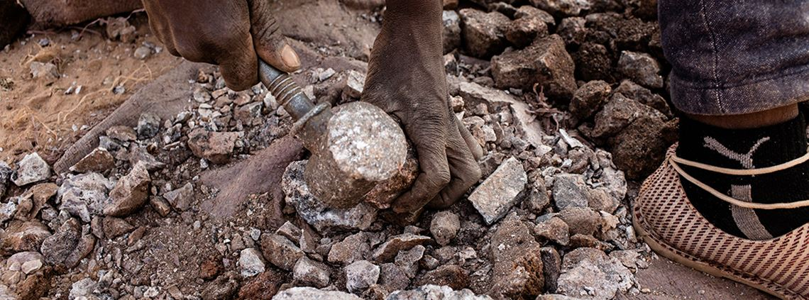 Up to 60% of the world's cobalt originates from the Democratic Republic of Congo © Corbis/Getty Images