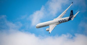 Hexcel supplied composite materials composites to the Airbus' A350 XWB. © Airbus