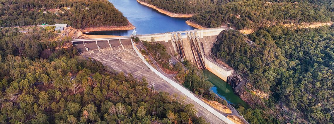 Filtering equipment has been set up at the Warragamba Dam © Getty Images/iStockphoto