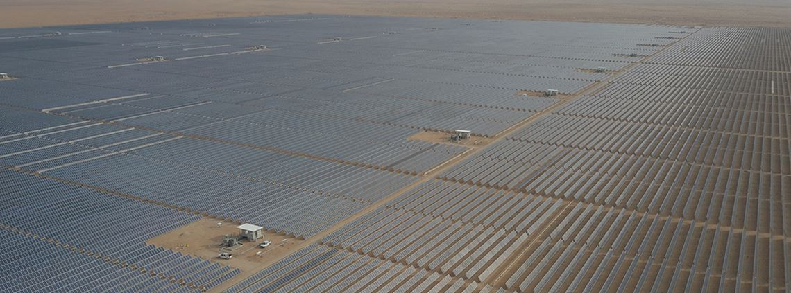The 300MW Sakaka solar project in Saudi Arabia was completed last year © ACWA Power