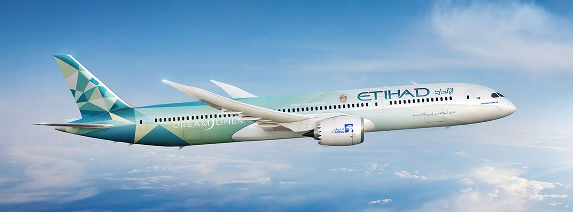 The 'Greenliner' will enter Etihad's commercial service this month © Etihad Aviation Group