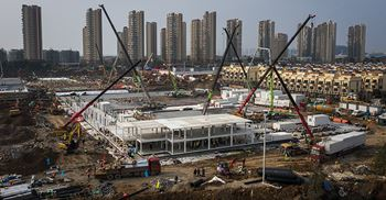 Chinese construction companies built a hospital in under two weeks  ©Getty Images