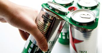 Before deciding on cardboard toppers, Heineken came close to using glue, but felt it wasn't right for the company ©Heineken