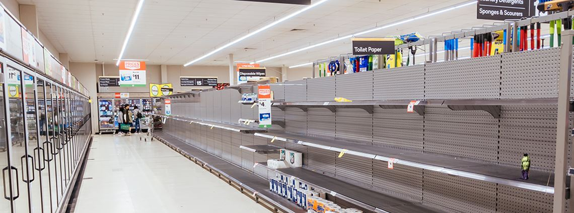 Australian supermarkets are working to restock shelves after initial coronavirus panic buying © Chris Putnam/Barcroft Media/Getty Images