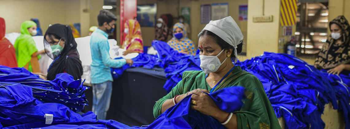 Workers are able to return to garment factories in Bangladesh if physical distancing is adhered to © Getty Images