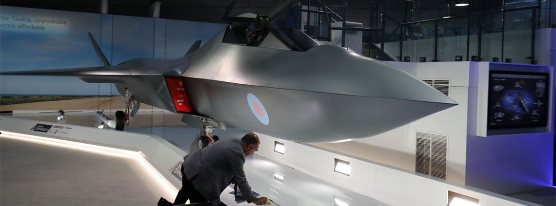 BAE says the new Tempest fighter will built using robotics and 3D printing © TOLGA AKMEN/AFP via Getty Images