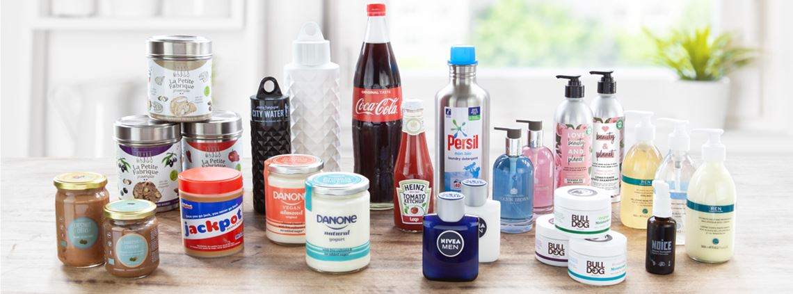 Over 150 products will be available in reusable packaging as part of the Loop trial © Loop
