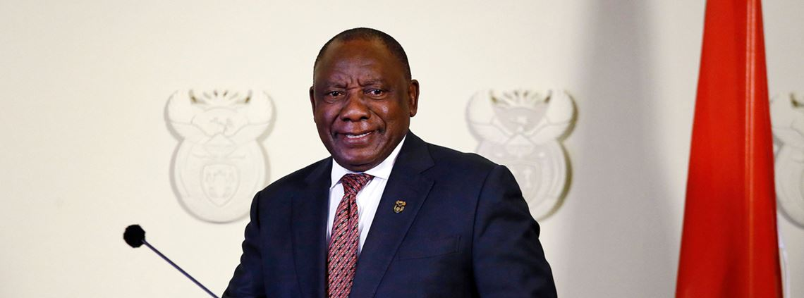 Ramaphosa has urged African Union countries to increase female land ownership © AFP/Getty Images