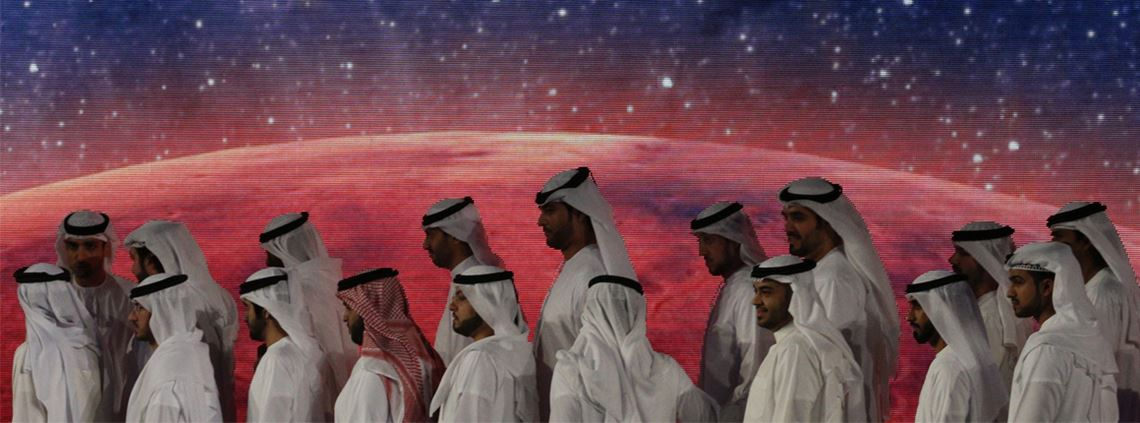 The UAE hopes to have a human settlement on Mars by 2117 © KARIM SAHIB/AFP via Getty Images