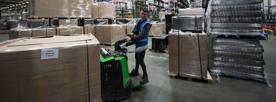 The most in demand entry-level role was warehouse operatives and pickers © AFP/Getty Images