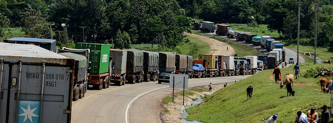 Around 2,400 trucks could be caught in jams © BRIAN ONGORO/AFP via Getty Images