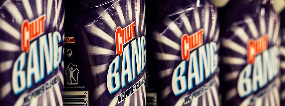 Cillit Bang is a cleaning product brand sold by Reckitt Benckiser © Igor Golovniov/SOPA Images/LightRocket via Getty Images
