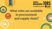 What roles are available in procurement and supply chain?