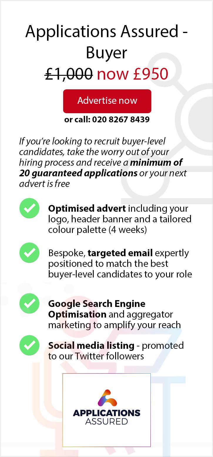 Applications Assured - Buyer: 5% Off. £950.