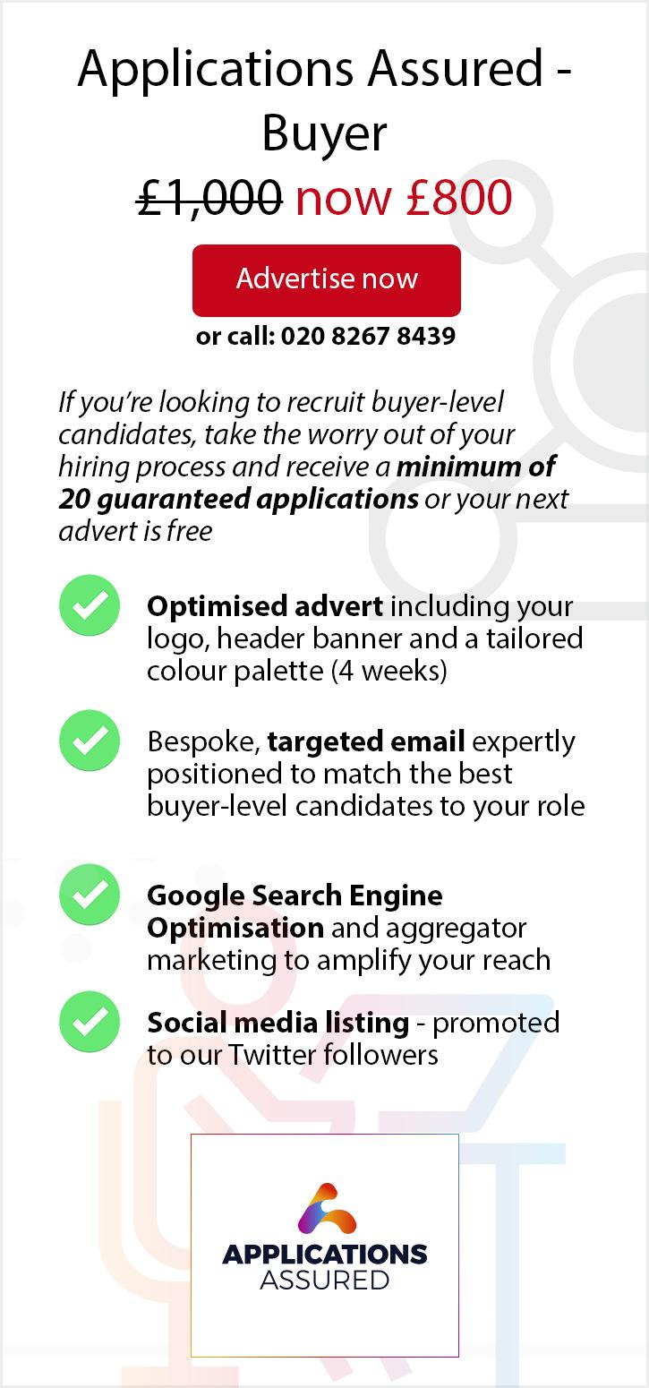 Applications Assured - Buyer: 20% Off. £800.
