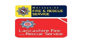 Lancashire Fire & Rescue Service and Merseyside Fire & Rescue Service logo